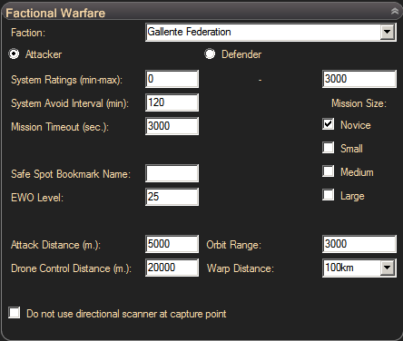eve online bot, eve pilot - miner settings